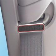 日本 KASHIMURA 汽車用銀邊紅線安全帶夾