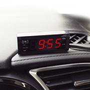 日本 KASHIMURA 12V24V汽車用多功能顯示器時鐘電壓溫度