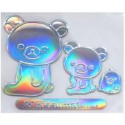 日本 MEIHO 汽車用鬆弛熊幻彩裝飾貼