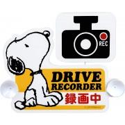 日本 MEIHO 汽車用 SNOOPY REC 錄影中 裝飾警示貼