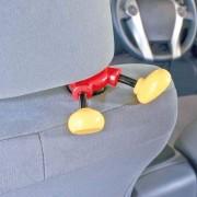 日本 NAPOLEX MICKEY 汽車用米奇腳仔椅背掛勾掛鈎掛鉤
