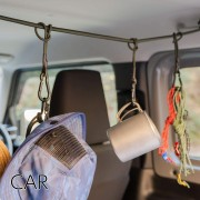 日本 OGC 汽車用車內扶手多用途橡根帶掛勾戶外露營用