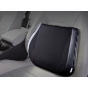 韓國 PAVONI 汽車用黑色皮邊透氣記憶綿腰墊