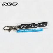 日本製 RAYS 介字立體碳纖紋車匙扣鑰匙扣