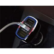 日本 SEIKO 12V汽車用一拖三USB 7.2A 手機充電