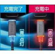 日本 SEIWA TYPE-C ANDROID 手機發光充電線數據線