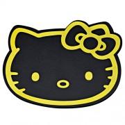 日本 SEIWA HELLO KITTY 黑金防滑墊