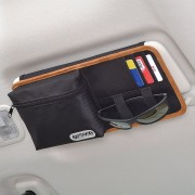 日本 SEIWA x OUTDOOR 汽車內太陽擋板眼鏡架咭片咭雜物袋收納袋