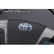 日本 SILKBLAZE TOYOTA 豐田車專用立體軚環章立體軚盤章 ( 2色可選 )