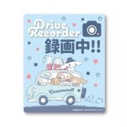 日本 CINNAMOROLL 玉桂狗 汽車用錄影中車貼紙 DRIVE RECORDER
