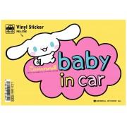 日本製 CINNAMOROLL 玉桂狗  汽車用 車身貼玻璃貼紙 BABY IN CAR
