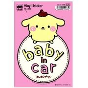 日本製 布甸狗 POMPOMPURIN 汽車用 車身貼玻璃貼紙 BABY IN CAR