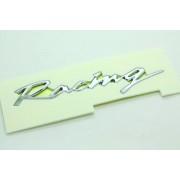 汽車原廠車章 RACING 賽車跑車 電鍍銀章 --- 韓國製
