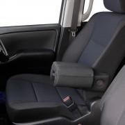 日本 TOMBOY 汽車用黑色真皮座椅扶手加厚墊手肘墊