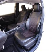 日本 TOMBOY 汽車用豪華黑色皮質紅線格仔座椅套坐椅套司機位乘客位單座位