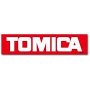 日本製 TOMICA 紅色白字 LOGO 長方型 汽車貼紙
